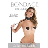 Ошейник Bondage Collection Collar and Leash One Size
