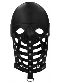 Черная маска-шлем Leather Male Mask - Shots Media BV - купить с доставкой #SOTBIT_REGIONS_UF_V_REGION_NAME#