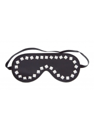 Маска из полиуретана Studded Eye Mask с квадропуклями - Blush Novelties - купить с доставкой #SOTBIT_REGIONS_UF_V_REGION_NAME#