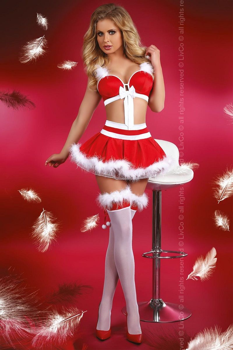 эротичный костюм снегурочки фото - 11