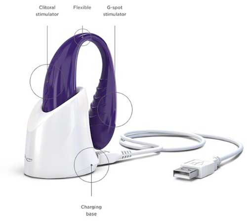 Фиолетовый вибратор WE-VIBE-II Purple USB rechargeable - We-vibe